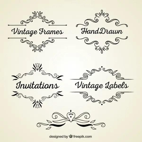 Vintage Style Frames Free Vectors
