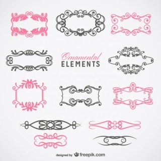 Vintage Style Frames Graphics Collection Free Vectors