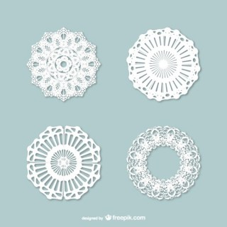 Vintage Style Lace Ornaments Pack Free Vectors