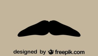 Vintage Style Mustache Minimalist Icon Free Vectors