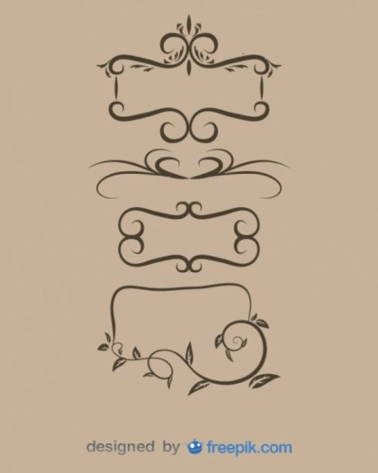 Vintage Style Ornamental Frames Collection Free Vectors
