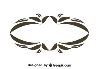Vintage Style Oval Floral Decorative Frame Vector Graphics Free Vectors