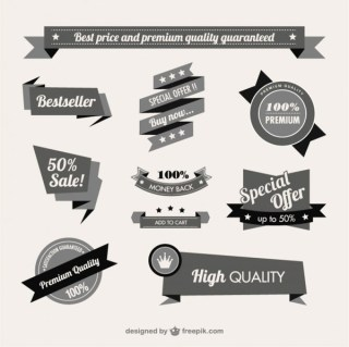 Vintage Style Quality Guaranteed Banner Free Vectors