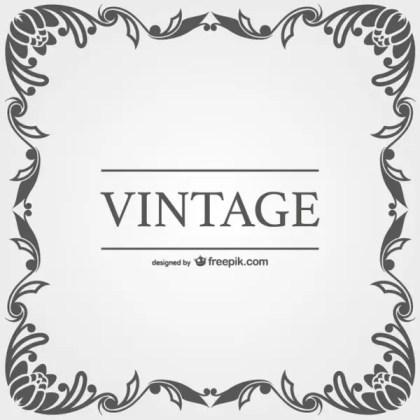 Vintage Style Vector Ornamental Frames Free Vectors