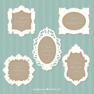 Vintage Style Yellow Frames and Banners Free Vectors