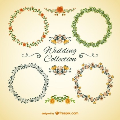 Wedding Floral Frames Free Vectors