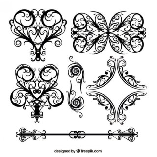 Wedding Floral Lace Pattern Vector Free Vectors