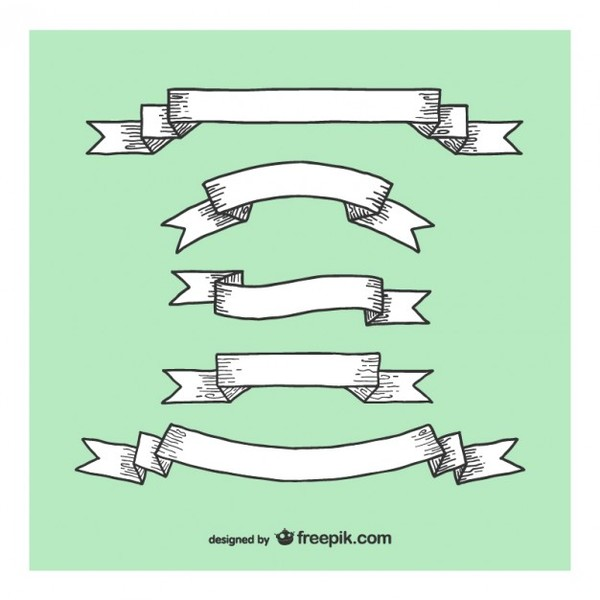 Wood Ribbons and Laces Collection Free Vectors