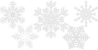 Snowflakes Free Vector