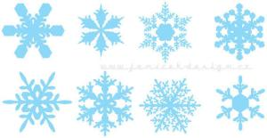 Colorful Snowflakes Vector