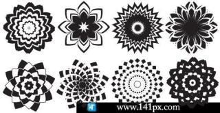 Abstract flowers free vector