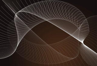 Abstract Flowing Curves Vector Background