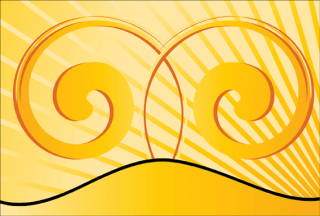 Yellow Swirl Background Vector