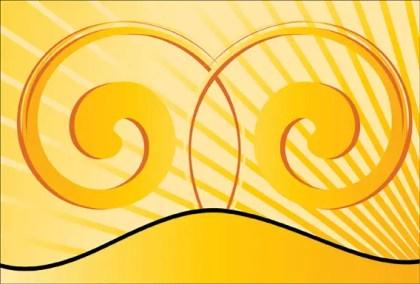 Yellow Swirl Background Vector
