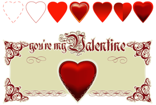 valentine vintage banner