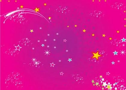Color Stars Background