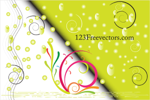 Free Vector Colorful Green Swirl Background