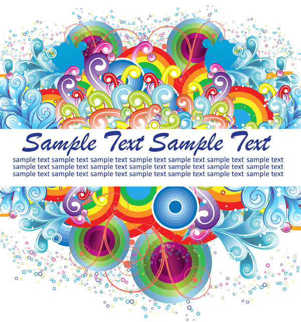 Colorful Swirls Vector Background