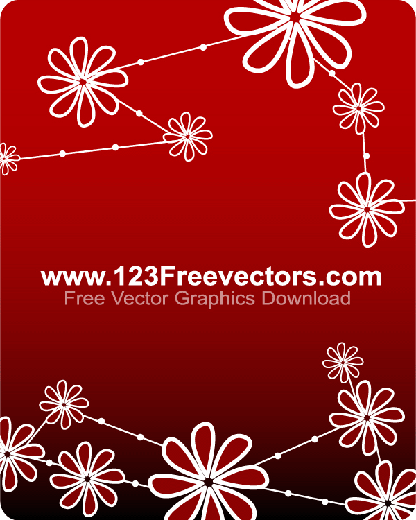 Floral background free vector