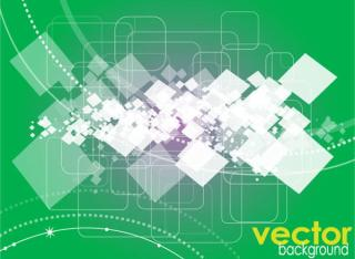 Green square vector background