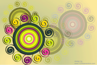 Swirl & Circle Background Free Vector Graphics