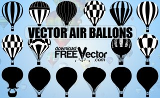 Air Balloons Free Vector