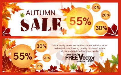Autumn Sale Free Vector