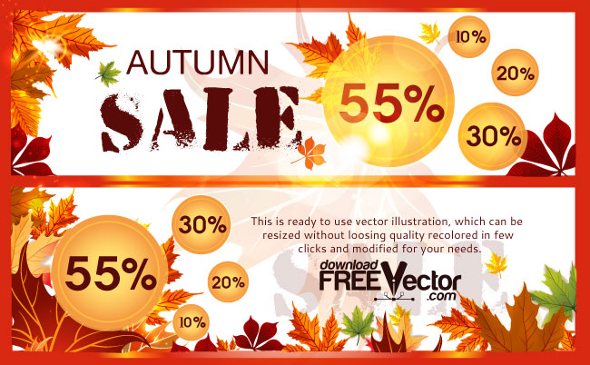 Autumn Sale Free Vector