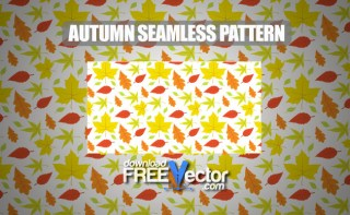 Autumn Seamless Pattern Free Vector