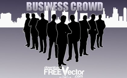 Business Crowd Free Vector