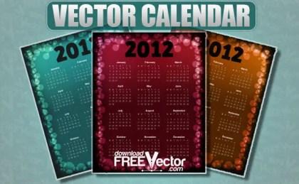 Calendar For 2012 Free Vector