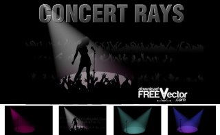 Concert Rays Free Vector