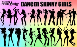 Dancer Skinny Girls Free Vector