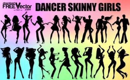 Dancer Skinny Girls Free Vector
