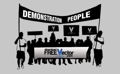 Demonstration People Free Vector