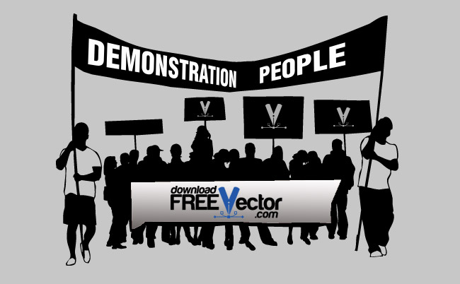 Demonstration People Free Vector