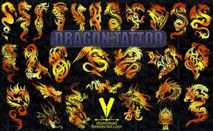 Dragon Tattoo Free Vector