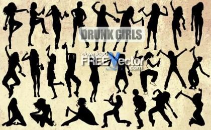 Drunk Girls Free Vector