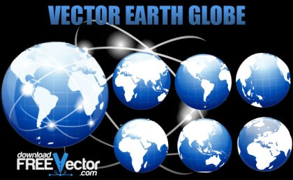 Earth Globe Free Vector