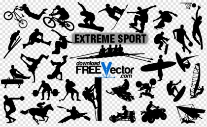 Extreme Sport Silhouettes Free Vector