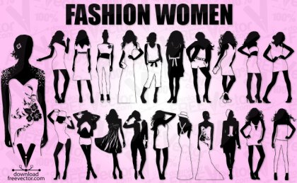 Fashion Model Girls Free Vector