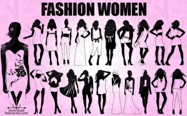 Fashion Model Girls Free Vector