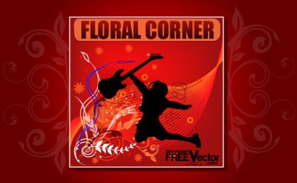 Floral Corner Free Vector