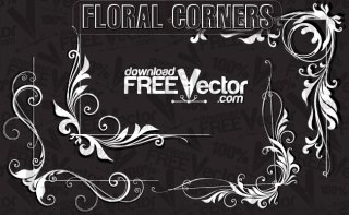 Floral Corners Free Vector