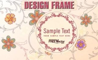 Floral Design Frame Free Vector
