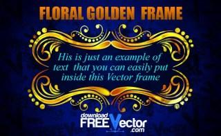Floral Golden Frame Free Vector