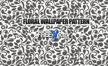 Floral Wallpaper Seamless Pattern Free Vector
