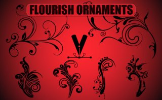 Flourish Ornaments Free Vector