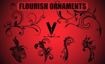 Flourish Ornaments Free Vector