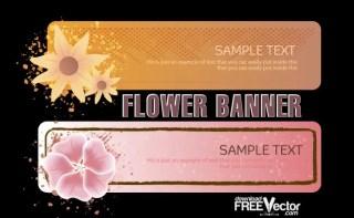 Flower Banner Free Vector